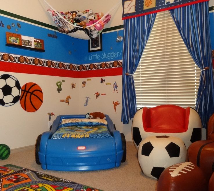 Magnificent Boys Room Sports Theme Of Decorations For Kids Rooms Decor For Boy