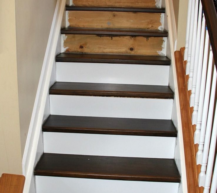 Magnificent Cheap Stair Tread Ideas Of New Stairs For Under $100!!! Heading