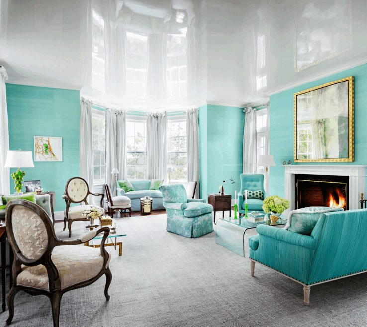 Magnificent Dark Turquoise Living Room Of Light Simpl Wooden Flooring Artistic Silver Horse