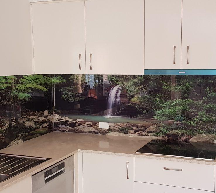 Magnificent Printed Glass Backsplash Of Splashback Buderim Falls