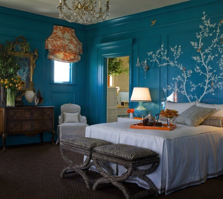 Magnificent Turquoise Color For Bedroom