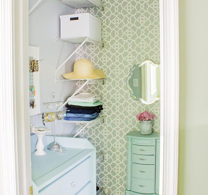 Master Bedroom Closet Designs Of Girly Walk In Closet Makeover