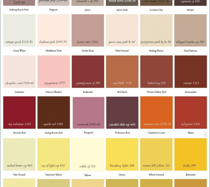 Matching Paint Colors Of Farrow And Ball Benjamin Moore