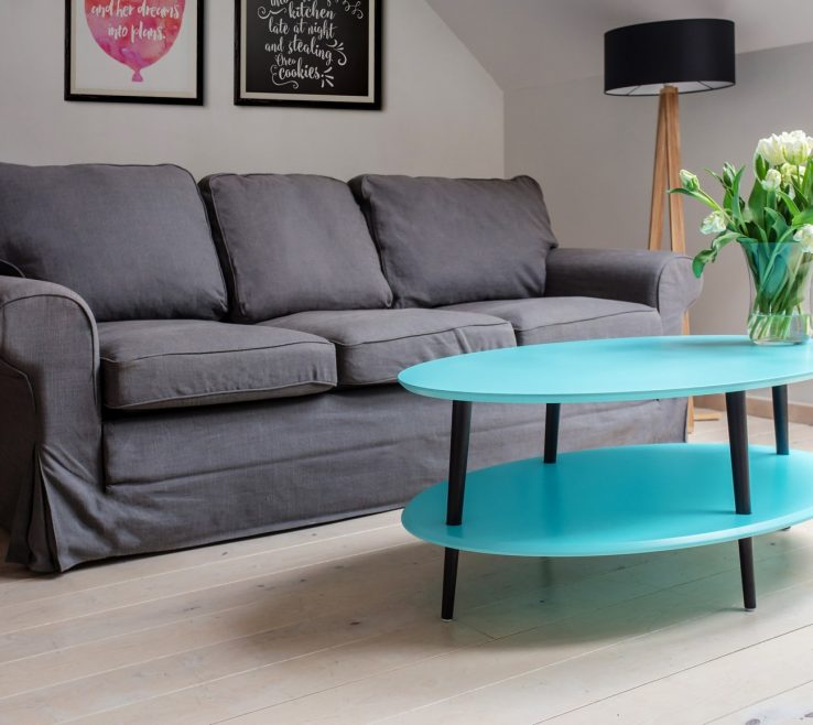 Mesmerizing Dark Turquoise Living Room Of Ovo Coffee Table