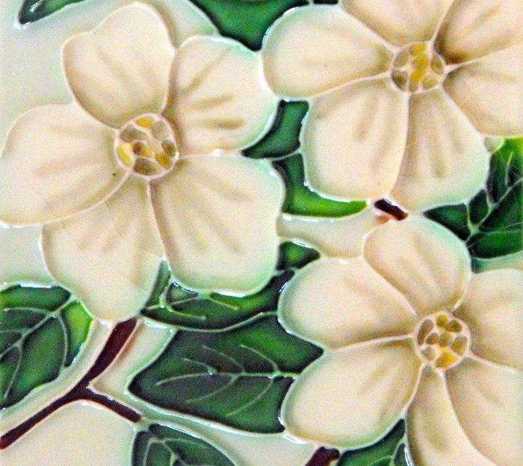 Mesmerizing Decorative Ceramic Wall Tile Of Conceptreview: Dogwood Flower Art 4x4: Home &