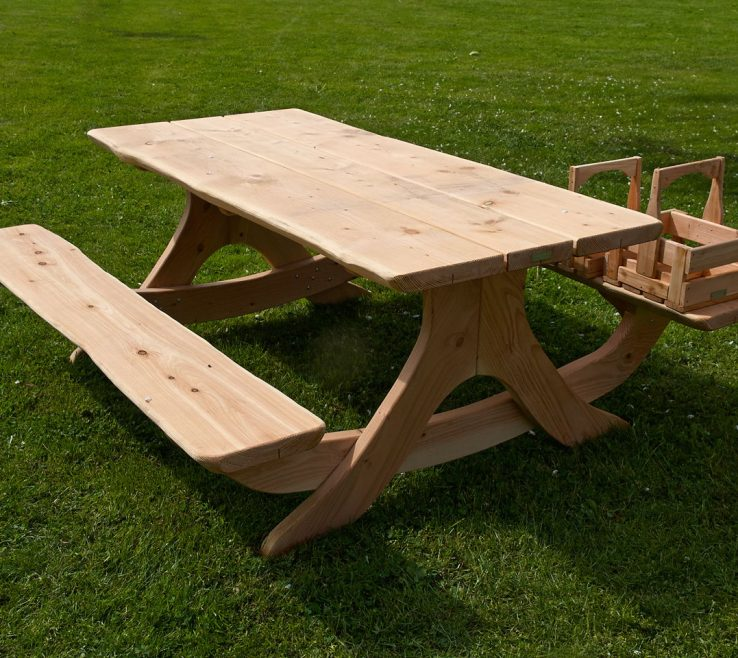 Mesmerizing Garden Bench Table Of Picnic Made Of Wood