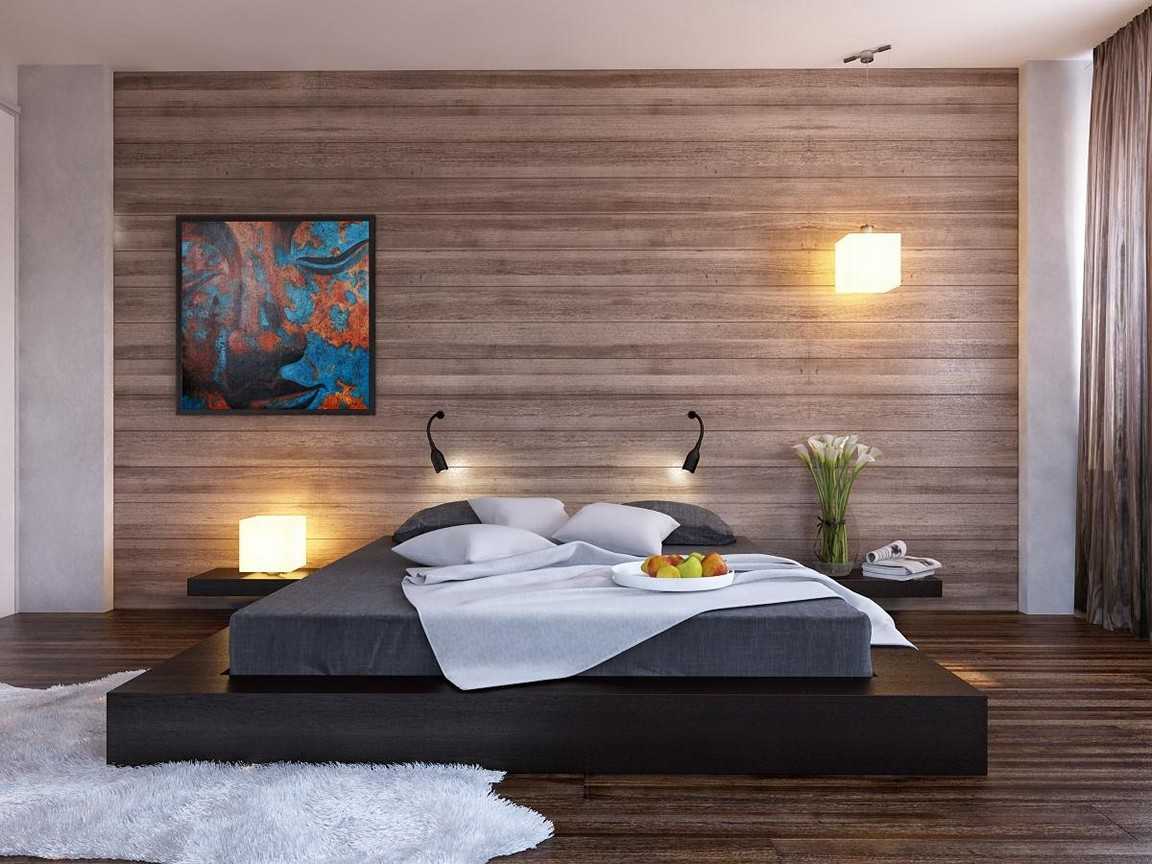 Mesmerizing Modern Accent Wall Ideas Of Image Of: Wood Bedroom