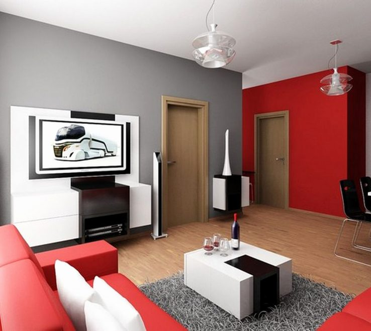 Mesmerizing Turquoise Living Room Ideas Of Modern Red Red Chair Gray And Brown