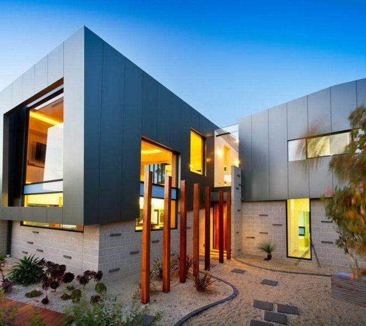 Modern Accent Wall Ideas Of Luxury Architecture Of Home With Sleek Outdoor