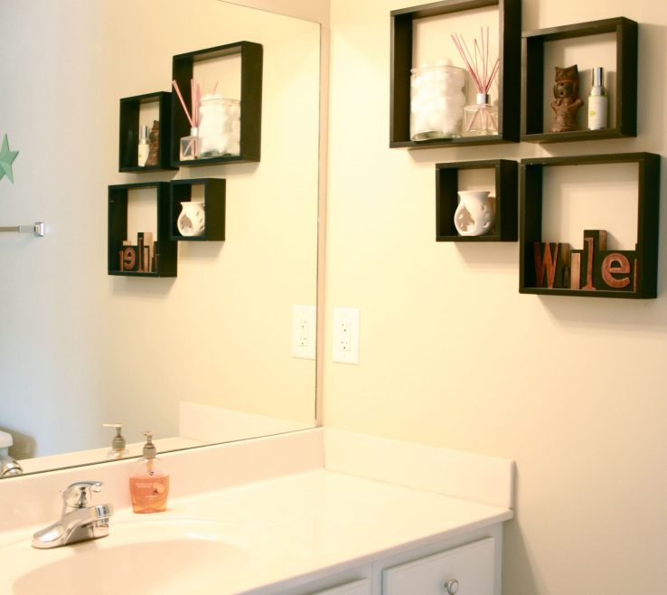 Modern Bathroom Walls Of Bathroom, Wall Mount Display Shelf Ideas