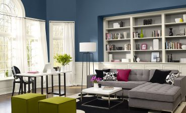 Modern Decorating Living Room Of Room, Blue Ideas Fresh, Space Paint Color