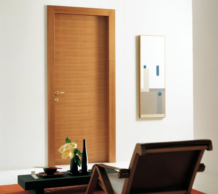 Modern Room Doors Of Interior Between The Wooden And The Glass