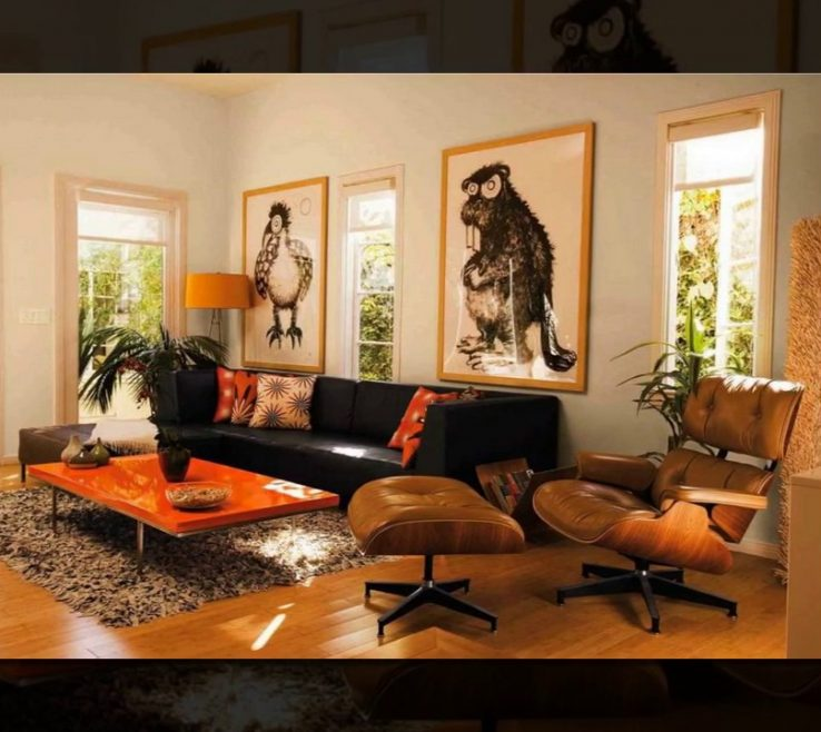 Orange And Brown Home Decor Of Daily Decor Living Room
