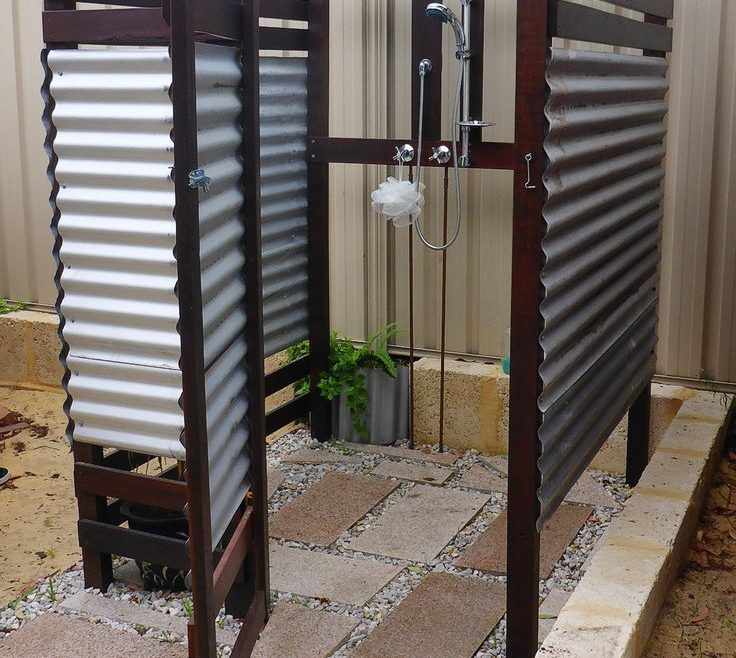 Outdoor Shower Floor Ideas Of Patio Kitchen Small Trial Backyard Brick