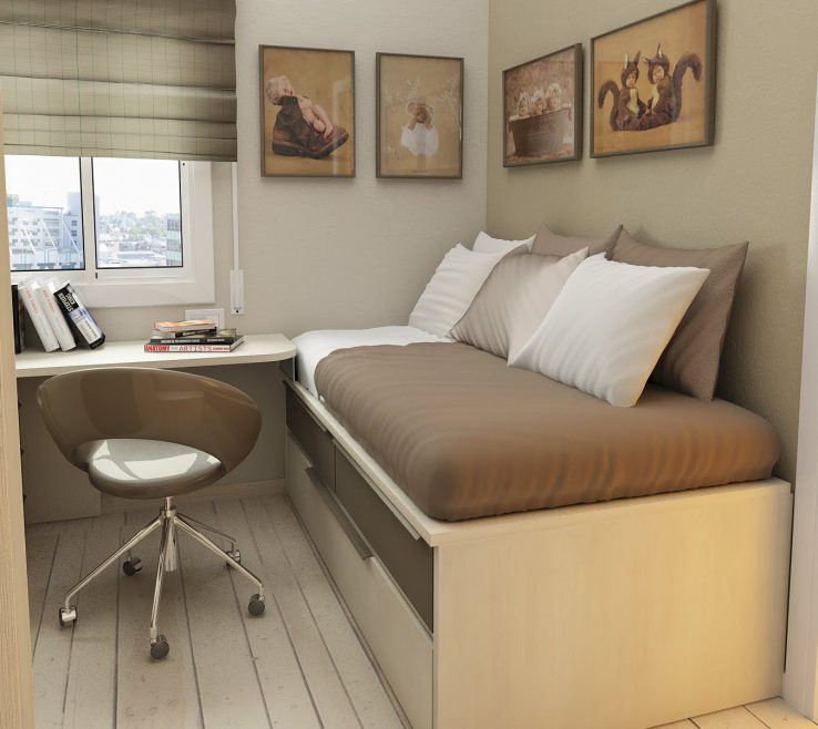 Pact Beds For Small Rooms Of Soft Fortable Materials Room Bed