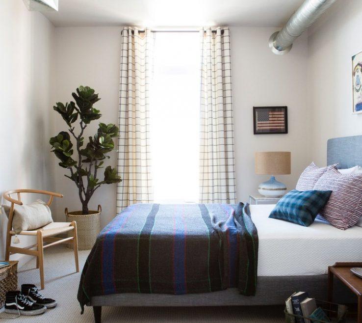 Picturesque Bed In Floor Of Draperies Small Bedroom