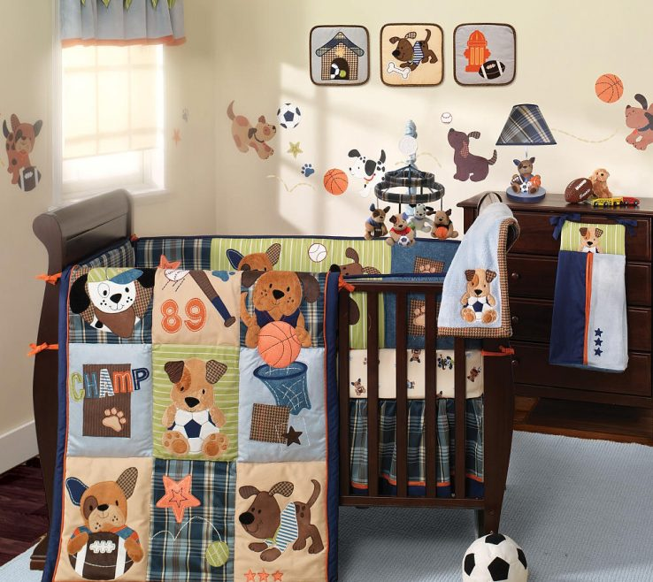 Picturesque Boys Room Sports Theme Of Sport Crib Bedding