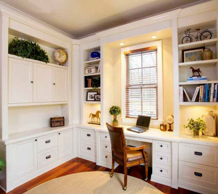 Picturesque Built In Home Office Of Kitchen Furniture Custom Ry Design Ins Custom