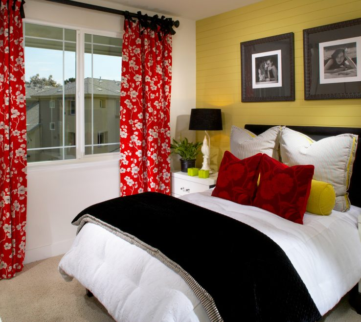 Picturesque Decorating With Yellow And Red Of Echelon Spring Blackwhiteyellowred