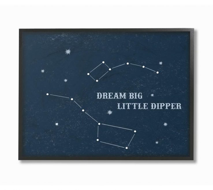 """Picturesque Framed Objects Wall Art Of 11 In.14 In. """"dream Big"""