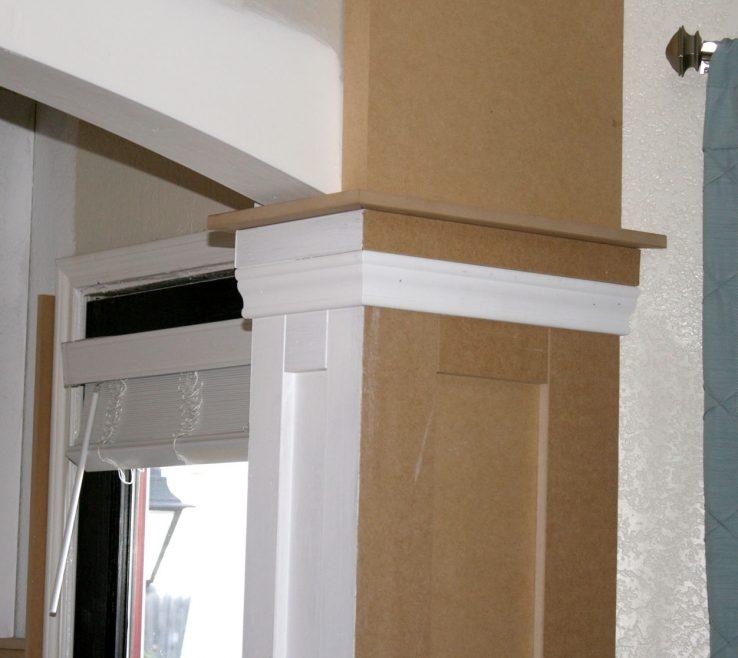 Picturesque Indoor Column Ideas Of Remodelaholic | Living Room Update 4; Installing