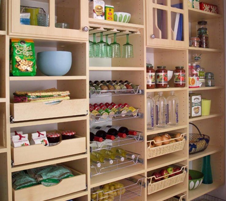 Picturesque Kitchen Space Saver Ideas Of Best Pantry Organizers: Easyclosets Closet System