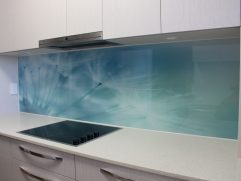 Printed Glass Backsplash