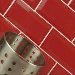 Red Brick Kitchen Wall Tiles Of Metro