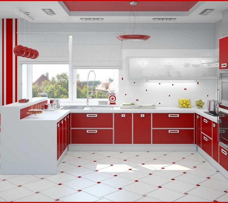 Red White And Black Kitchen Tiles Of 220324 Accessories Built In Stove Oven Blue