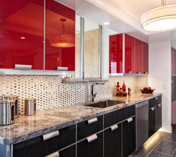 Red White And Black Kitchen Tiles Of Full Size Of Modern Kitchen:red Accessories Modular