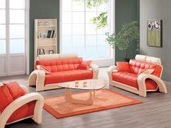 Brown And Orange Sofa