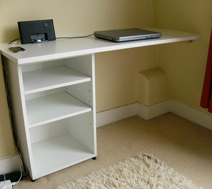 Remarkable Built In Desk Ideas For Small Spaces Of Full Size Of Wall Mounted White Plans