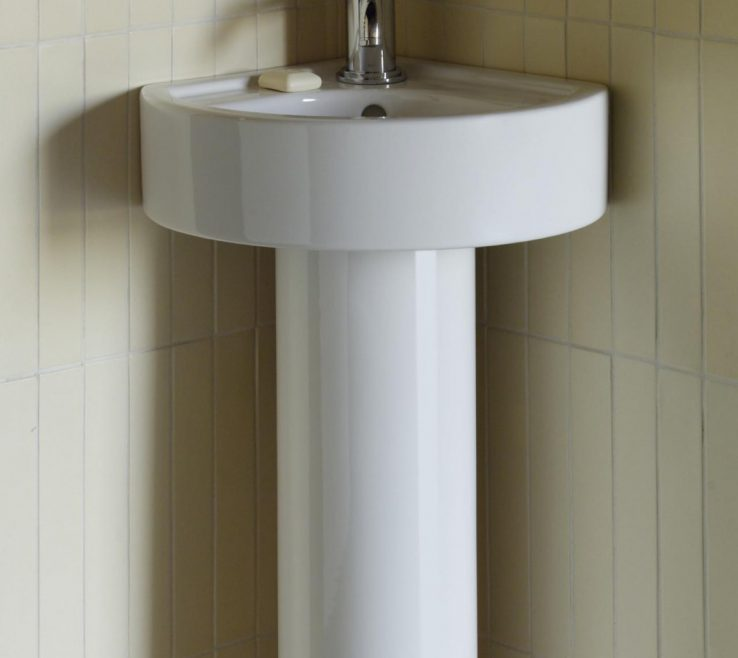 Remarkable Corner Pedestal Sinks For Small Bathrooms Of Sink On Amazing Home Decoration Idea P