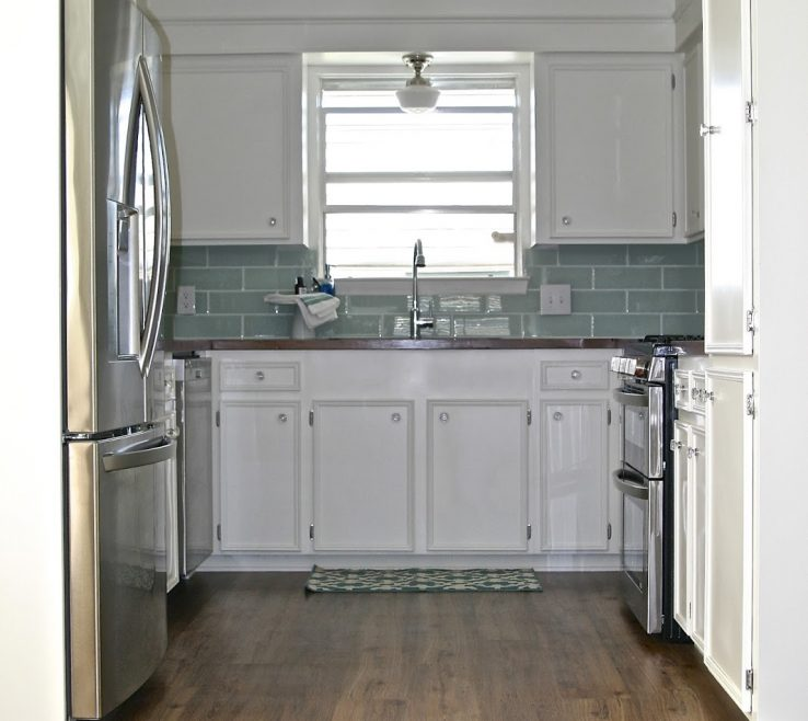 Remarkable Small White Kitchens Of Kitchen Makeover With Built In Fridge Enclosure, Fisherman