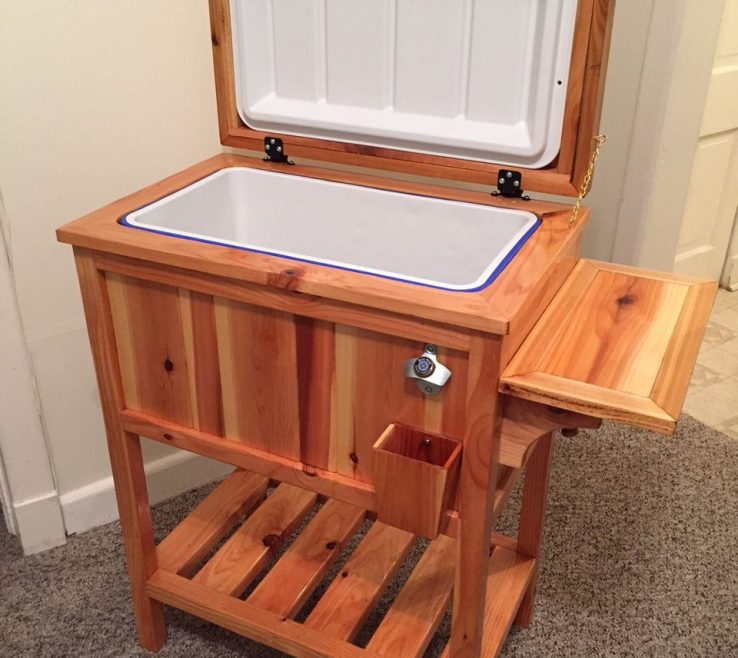 Remarkable Small Wood Project Ideas Of Wooden Cooler Stand   Free Instructions  
