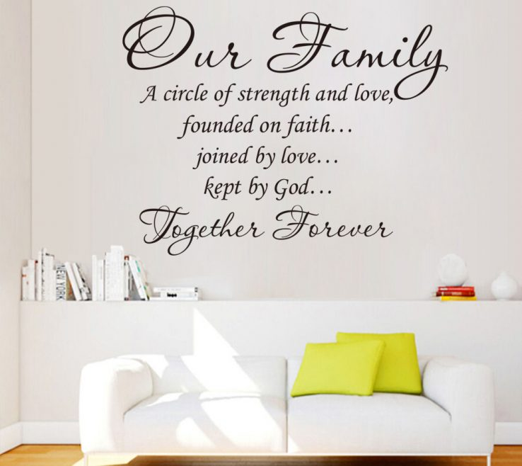 Remarkable Vinyl Wall Art Ideas Of Design Family Quotes Words Contemporary Modern Unique