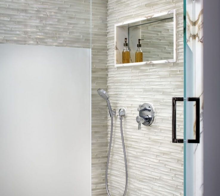 Shower Surround Tile Ideas Of Dimensional Ceramic Wall