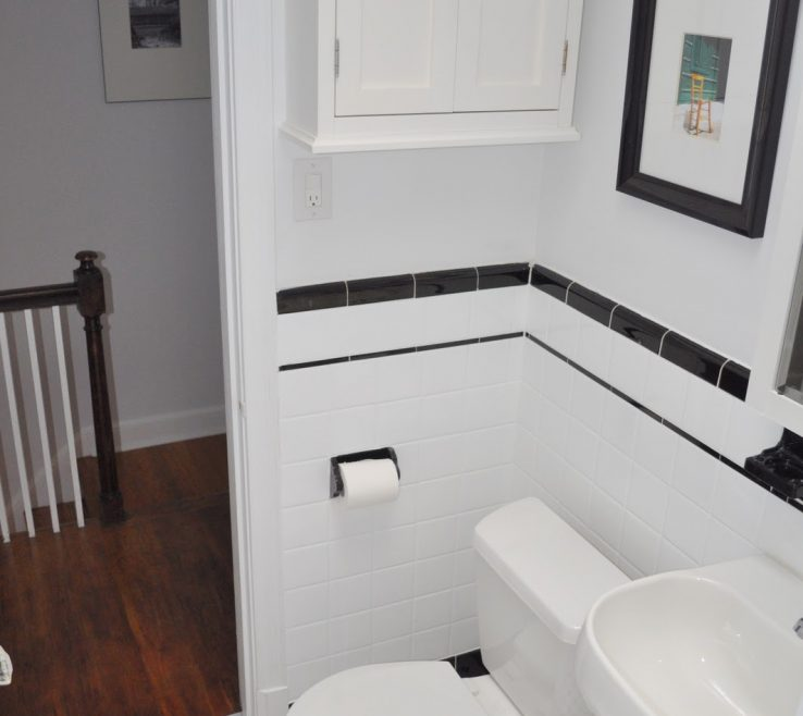 Small Bathroom Tile Ideas Of Vintage Black And White