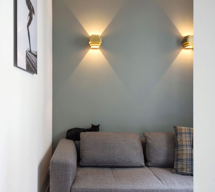 Small Space Lighting Of Paris Apartment Tv Room With Art Deco