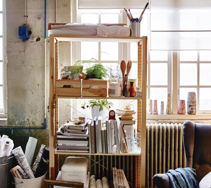 Sophisticated Art Studio Ideas Of Open Storage Like These Shelves Mean You