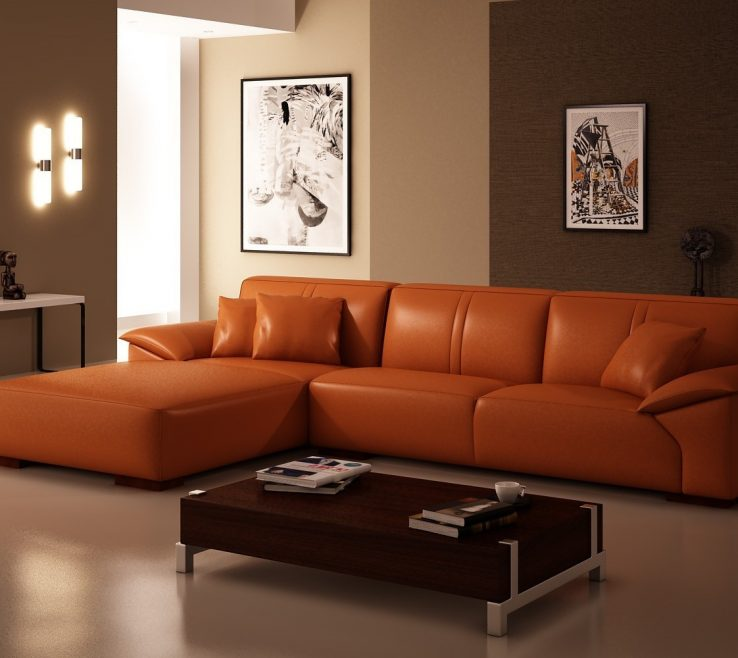 Sophisticated Brown And Orange Sofa Of Sofa Inspiring Loveseat Chaise Lounge Oversized Chaise