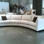Sophisticated Curved Modern Sofa Of Circular Sectional Semi Round Sofas Rounded Couch