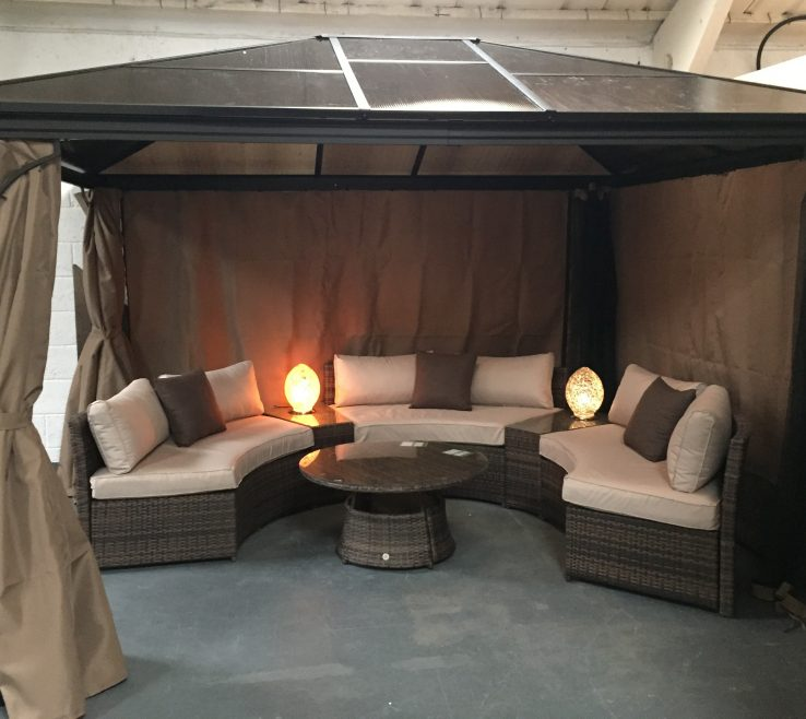 Sophisticated Furniture For Gazebo Of With Polycarbonate Roof