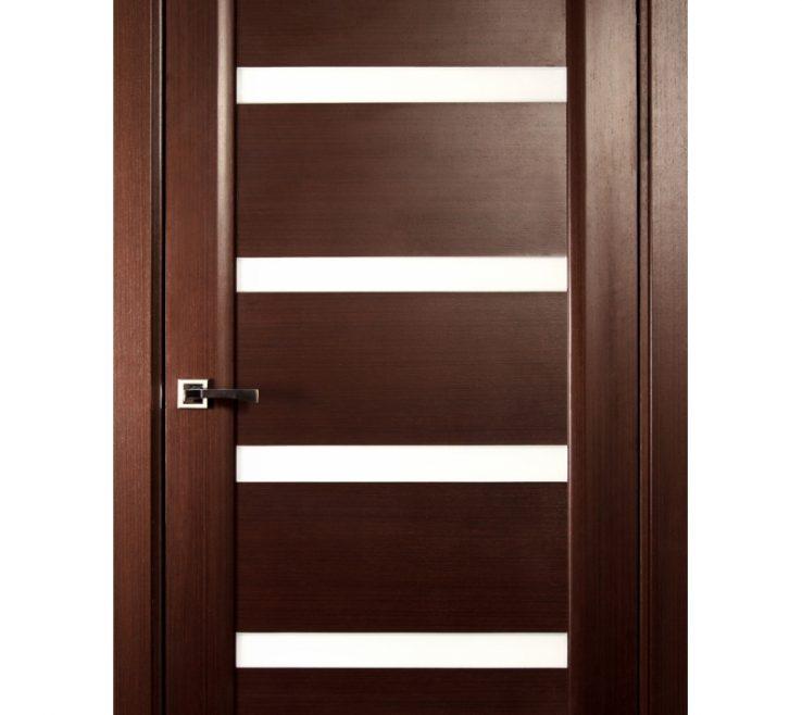 """Sophisticated Modern Room Doors Of """"tokyo"""" Wenge Interior Door With Glass"""
