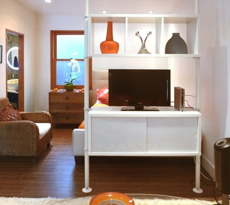 Sophisticated Room Dividers With Storage Of Bedroom White Stained Wooden The Divider Secret