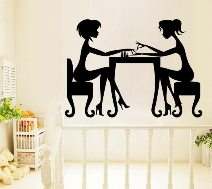 Sophisticated Vinyl Wall Art Ideas Of Hair Salon Hair Beauty Salon Design