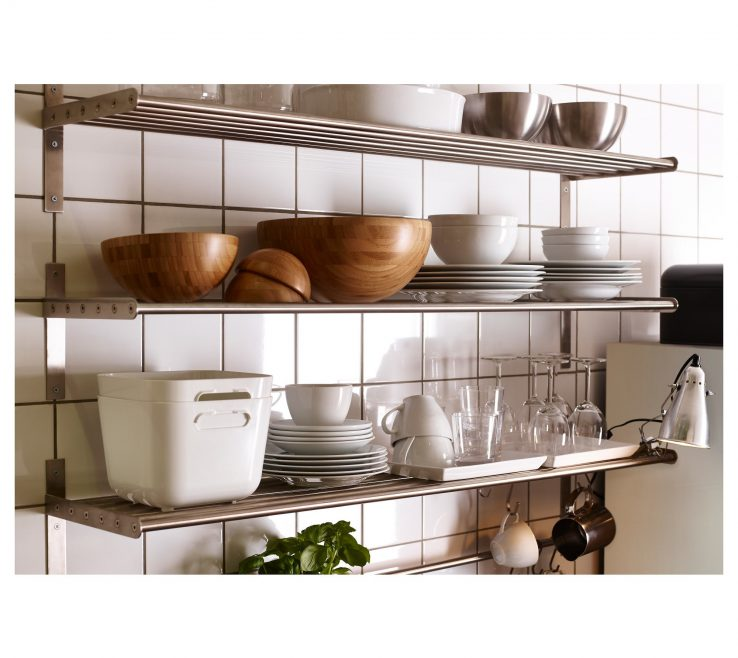 Sophisticated Wall Mounted Kitchen Shelves Of Shelving Chrome Shelving For Replacement Exposed