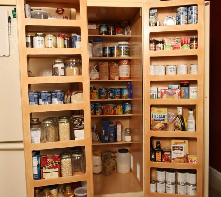 Space Saving Ideas Of Kitchen Beautiful And Kitchen Pantry Pantry Door