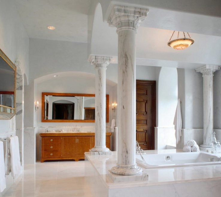 Structural Pillars Of Add Grandeur To Your Bathroom With Beautiful
