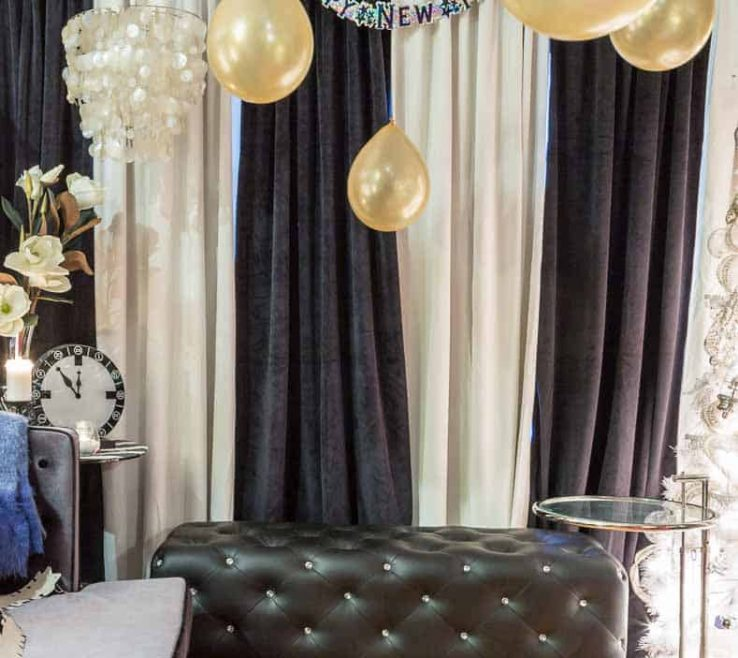 Superbealing Black And White Decorating Ideas For A Party Of Kate Spade Themed Decor Curtains